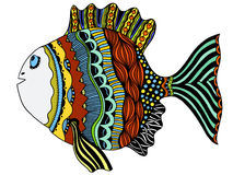 Stylized Hand Drawn Fish. Vector illustration image Royalty Free Stock Photography