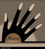 The stylized hand with a manicure Royalty Free Stock Image