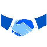 Stylized handshake vectorial. Vectorial illustration for handshake in two tone colors royalty free illustration