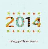 Stylized Happy New Year 2014 Background Stock Photography