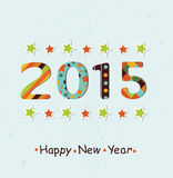 Stylized Happy New Year 2015 background Royalty Free Stock Images