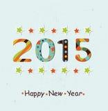 Stylized Happy New Year 2015 background.  Royalty Free Stock Images