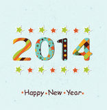 Stylized Happy New Year 2014 background Stock Photography