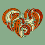 stylized heart Stock Image