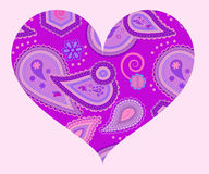 Stylized heart with abstract ornament Royalty Free Stock Photography