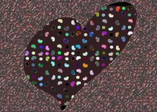 Colorful Stylized heart background Stock Photos