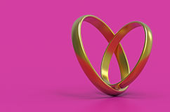 Stylized heart, 3d rendering Stock Image