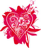 Stylized Heart and floral ornament Stock Photo