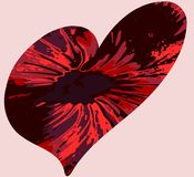 Abstract background with heart in red tones Royalty Free Stock Photos