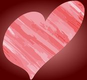 Artistic Stylized heart in red Stock Photos
