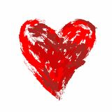 Stylized heart painted brush strokes Stock Images