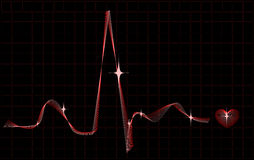 Stylized heart rhythm Stock Photos