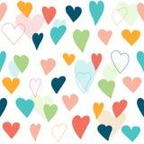 Stylized heart seamless pattern. Royalty Free Stock Photography