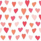 Stylized heart seamless pattern. Stock Photo