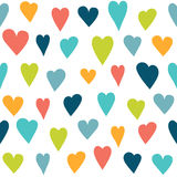 Stylized heart seamless pattern. Stock Images