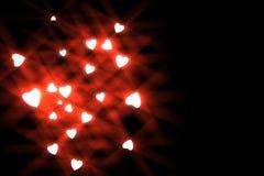 Stylized heart symbol illustration on black background- Royalty Free Stock Photography