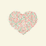 Stylized heart for valentine day Royalty Free Stock Image