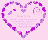 Stylized heart in violet colors Royalty Free Stock Images