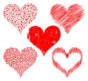 Stylized hearts Royalty Free Stock Photo