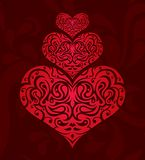 Stylized hearts stock illustration