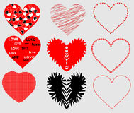 Stylized hearts Royalty Free Stock Photos