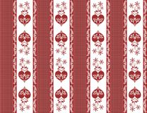 Stylized hearts background in red and white Royalty Free Stock Photo
