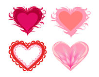 Stylized hearts Stock Images