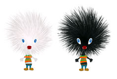 Stylized hedgehogs. Icons over white background Royalty Free Stock Photography