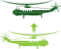 Stylized Helicopter Stock Photography