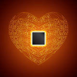 stylized hjärta Royaltyfria Bilder