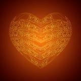 stylized hjärta Royaltyfri Fotografi