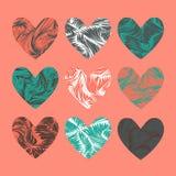 stylized hjärtor Stock Illustrationer