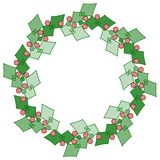 Stylized holly wreath Royalty Free Stock Photos