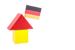 Stylized home with german flag Royalty Free Stock Image