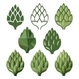 Stylized hop  icons Stock Photos