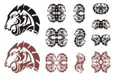 Stylized horse head symbols Royalty Free Stock Photo