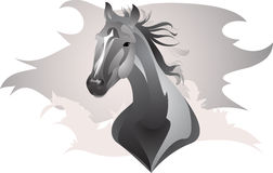 Stylized horse. Vector drawing of a stylized horse Royalty Free Stock Images