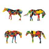 Stylized horses Stock Photo