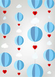 Stylized hot air balloons from paper Royalty Free Stock Photos