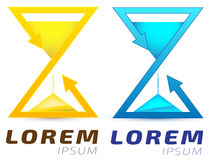 Stylized hourglass, sandglass, infinity loop logo Stock Images