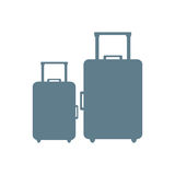 Stylized icon of colored suitcases on a white background Stock Photography