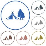 Stylized icon of tourist tent Stock Image