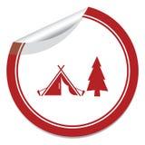 Stylized icon of tourist tent Stock Photos