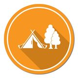 Stylized icon of tourist tent Royalty Free Stock Photo