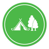 Stylized icon of tourist tent Stock Photography