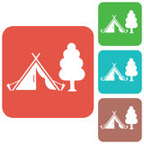 Stylized icon of tourist tent Stock Images