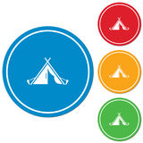 Stylized icon of tourist tent Stock Photo