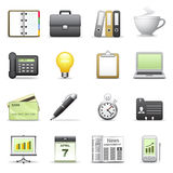 Stylized icons. Business. Stock Photo