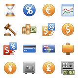 Stylized icons. Finances and business. Royalty Free Stock Photography