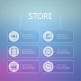 Stylized icons for online store service Stock Photography